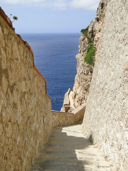 Schody Capo Caccia