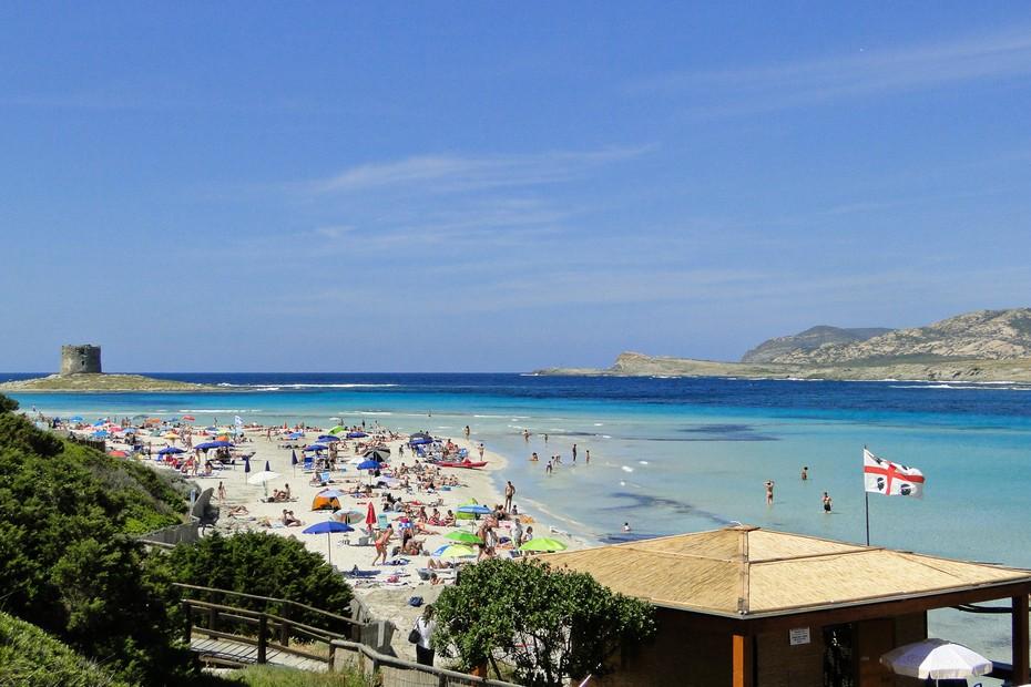 Plaża la Pelosa - końcówka maja