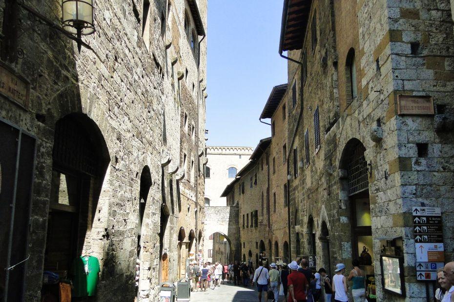 San Gimignano - ulica starego miasta