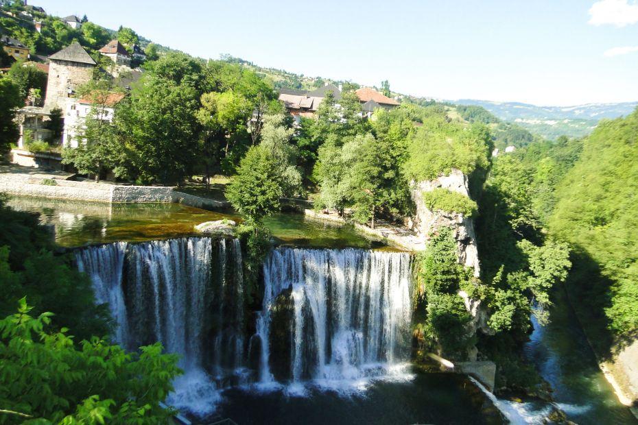 Wodospad w Jajcach.