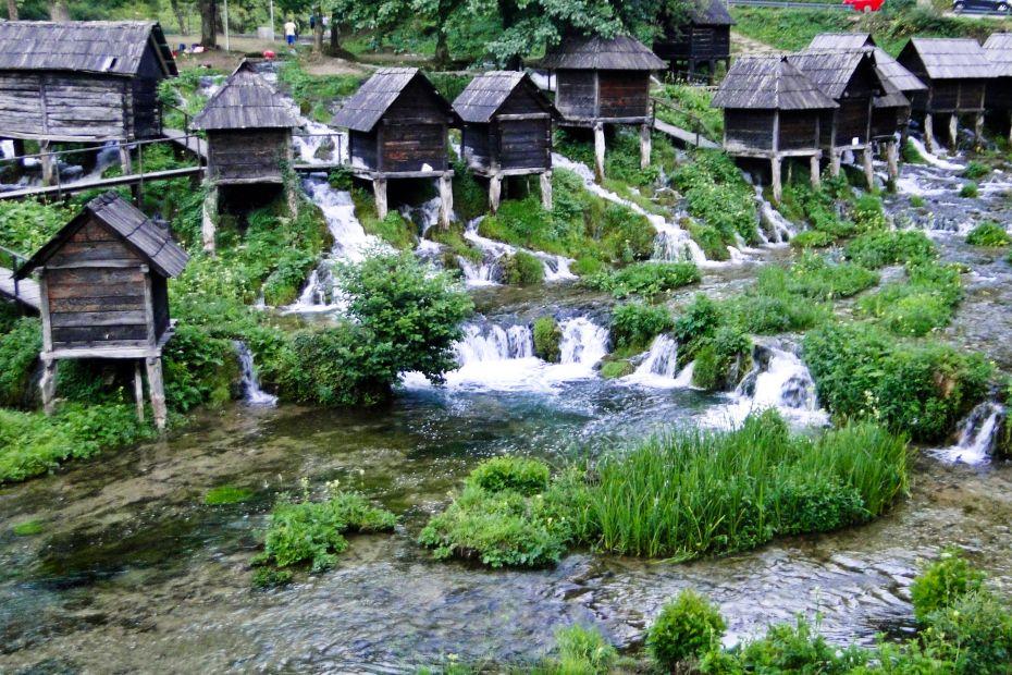 Młyny wodne, Jajce, Bośnia i Hercegowina