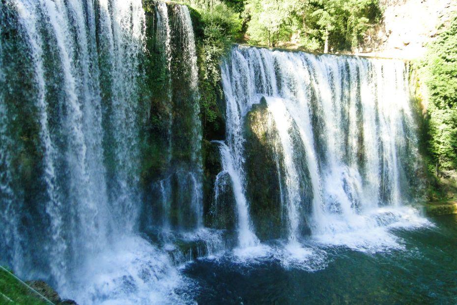 Wodospad na rzekach Vrbas i Pliva, Jajce.