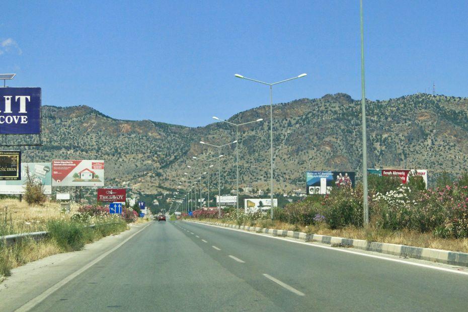 Turecki Cypr samochodem