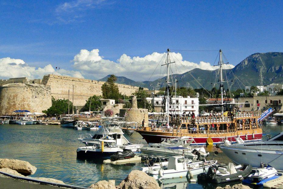 Kyrenia, port i zamek